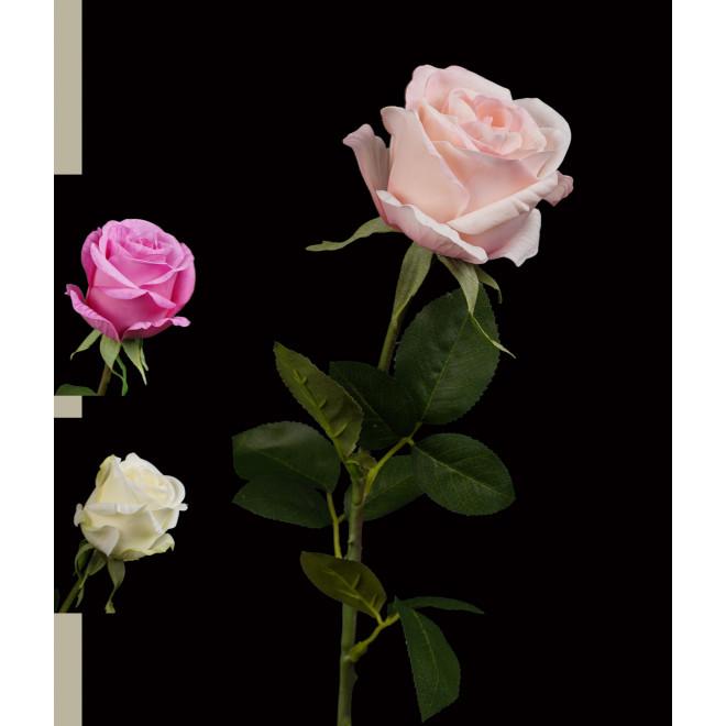 ROSE artificielle BAGATELLE 67 cm
