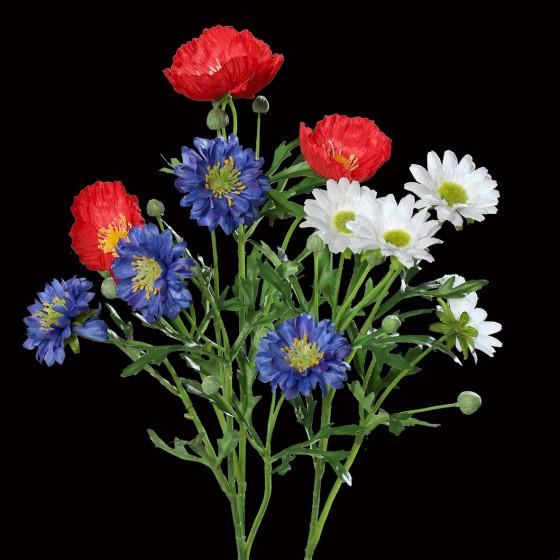 bouquet artificiel bleu blanc rouge 22 cm