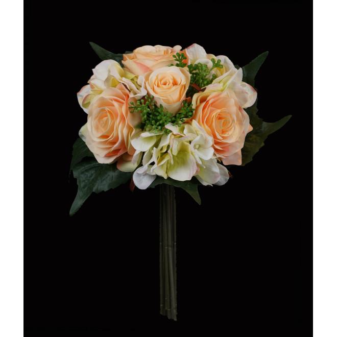 Bouquet artificiel Hortensia/rose 35 cm