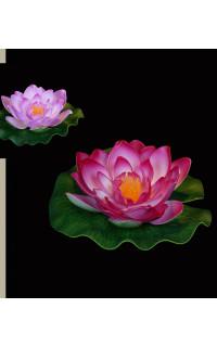 lotus flottant diamètre 16 cm fushia