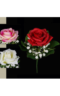 bouquet de ROSES artificielles 21 cm