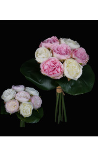 bouquet de mini PIVOINE artificielles 23 cm