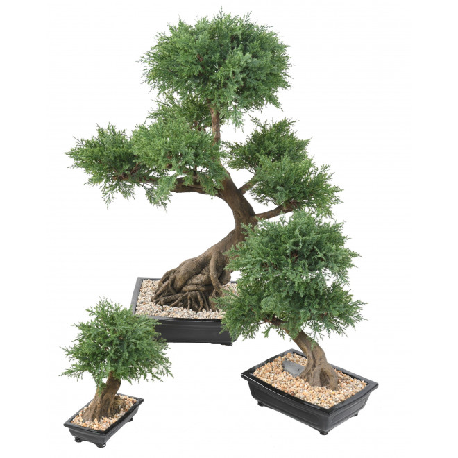 BONSAI artificiel JUNIPERUS en coupe  30 à 100 cm