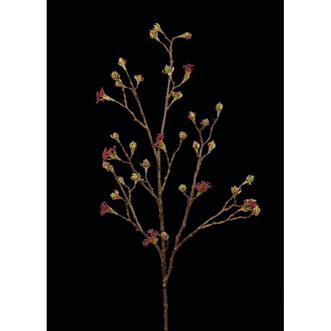 Branche fleurs d' ERABLE ROUGE artificielle 110 cm