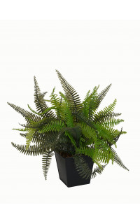 FOUGERE artificielle en pot zing 33 cm