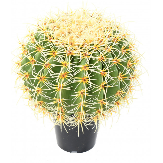 CACTUS artificiel BALL diam 30 à 48 cm ou Golden Barrel Cactus