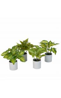 mini plante artificielle 24 cm en pot