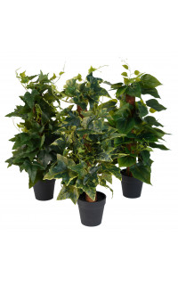 Mini plante artificielle 45 cm tuteur coco