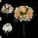 Bouquet artificiel Hortensia/rose 30 cm