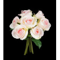 Bouquet artificiel rose 23 cm