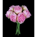 bouquet de 7 PIVOINES artificielles 32 cm