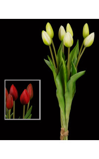 bouquet de 7 TULIPES artificielles 44 cm
