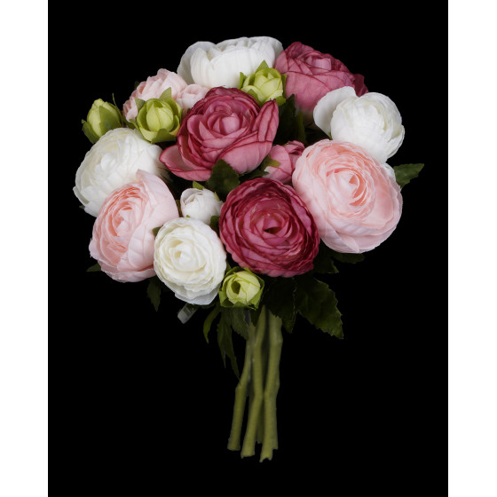 bouquet artificiel RENONCULE 22 cm