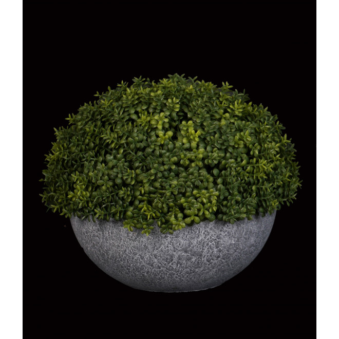 1/2 boule artificiel BUIS diam 19 cm en pot