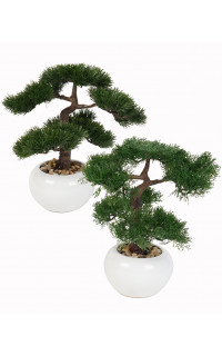 BONSAI conifère artificiel 33 cm