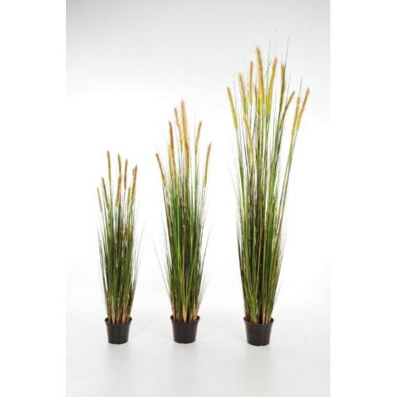GRANDES HERBES artificielles plumeau vert/brun 120 à 180 cm