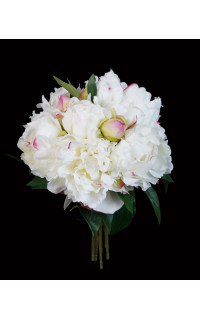 bouquet artificiel PIVOINE 28 cm