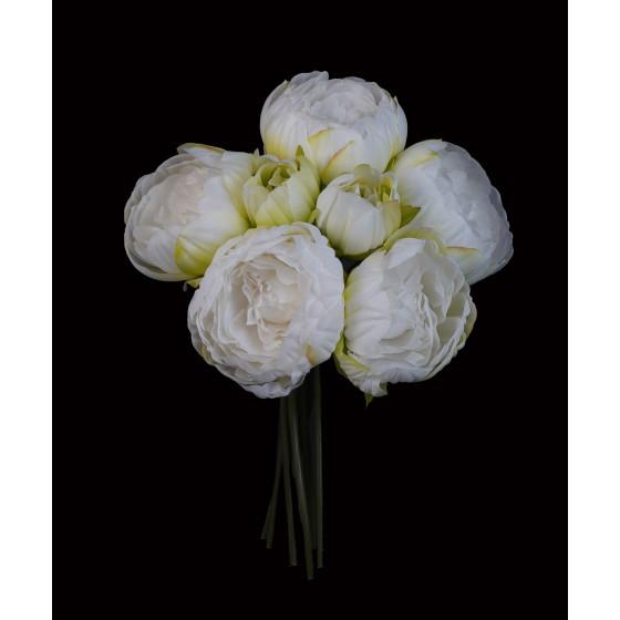 bouquet artificiel PIVOINE 32 cm