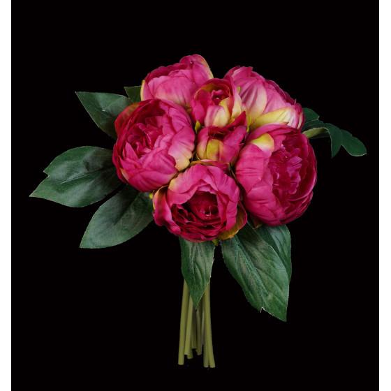 bouquet artificiel PIVOINE 32 cm fushia