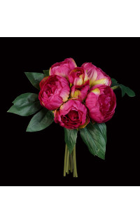 bouquet artificiel PIVOINE 32 cm fushia