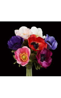 bouquet artificiel ANEMONE 28 cm