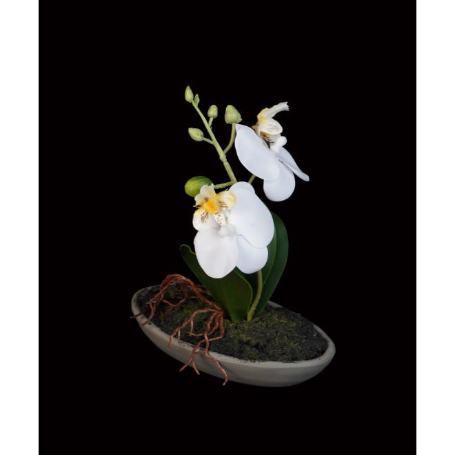 composition ORCHIDEE artificielle 18 cm