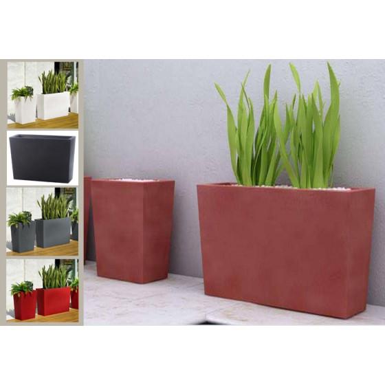 Jardinière Strevi cube haute 70 cm Largeur 50 et 100 cm