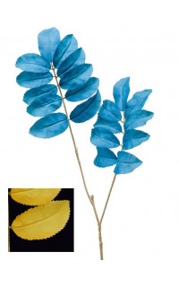feuille artificielle déco MELIANTHUS bleu 99 cm