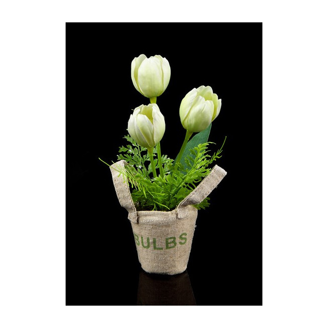Mini TULIPE artificielle en sac 23 cm