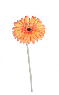 GERBERA artificiel 64 cm orange