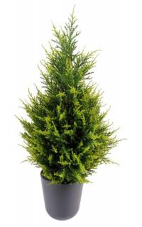 CYPRES artificiel 65 cm vert 2 tons (junipérus)