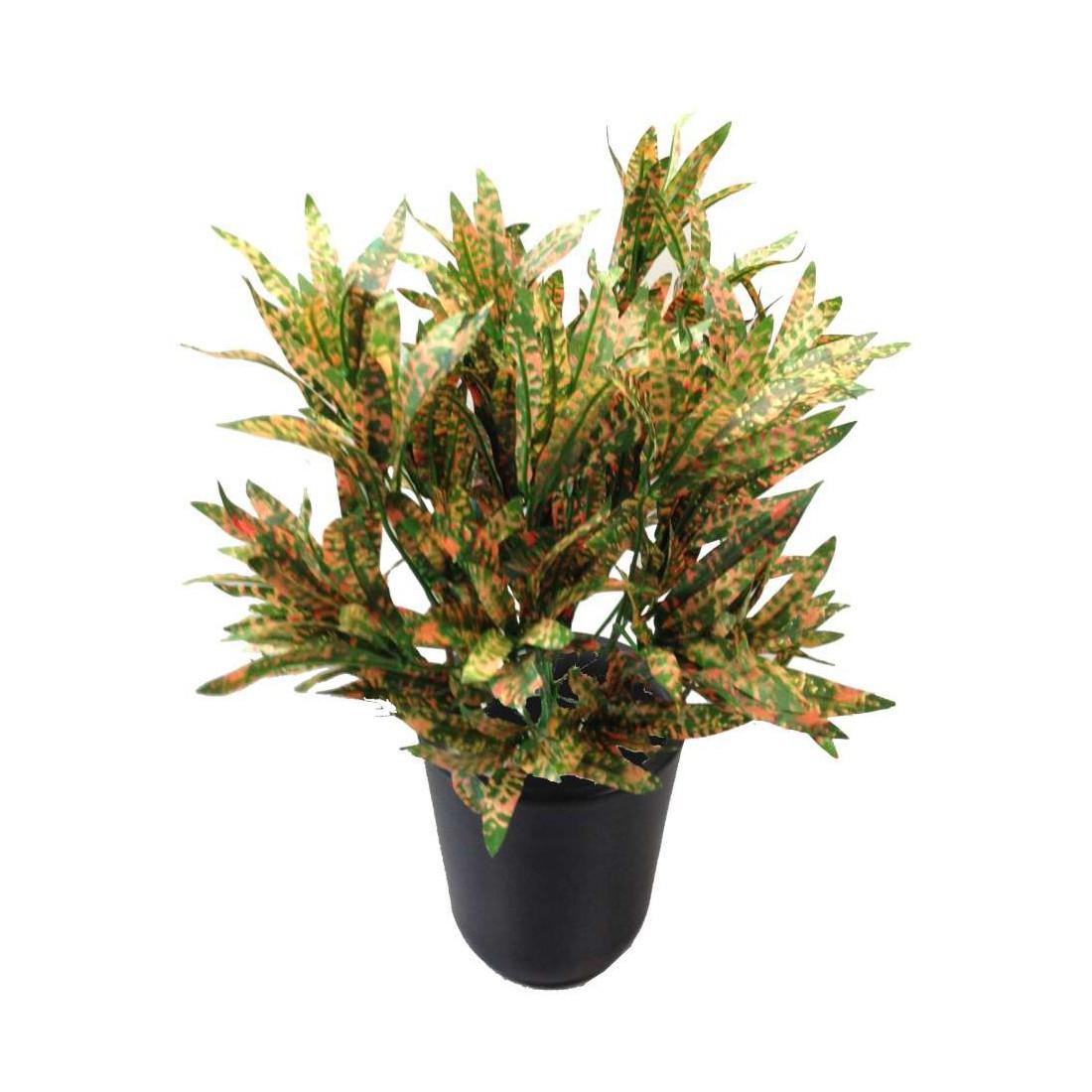 Croton spider 40cm plantes artificielles plantes vertes for Plantes artificielles lyon