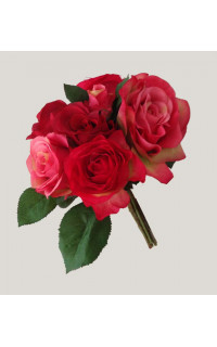 bouquet de ROSES artificielles 28 cm