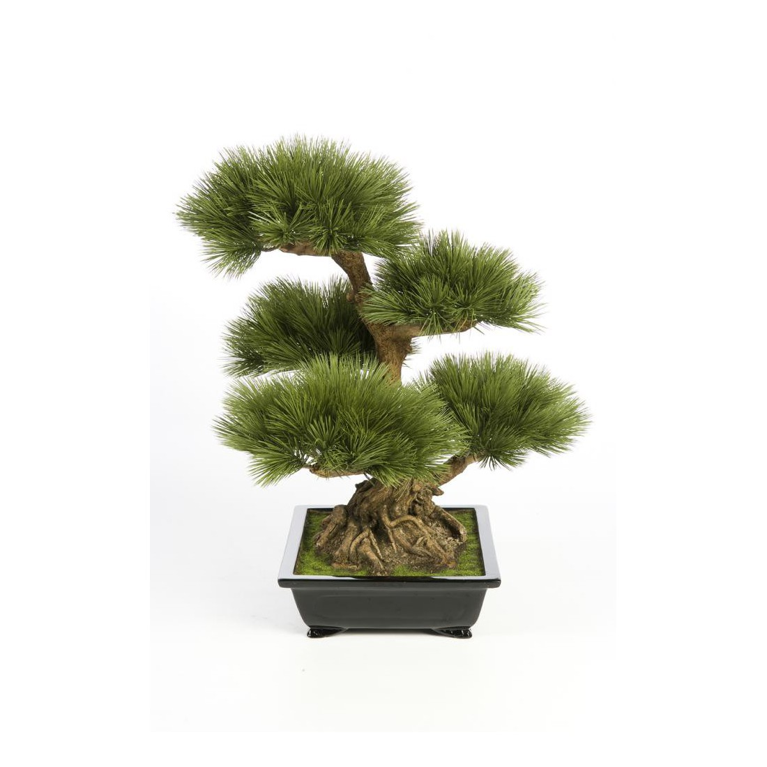 bonsai artificiel pin 60 cm bonsa s mini plantes bonsa s artificiels artificielles reflets. Black Bedroom Furniture Sets. Home Design Ideas