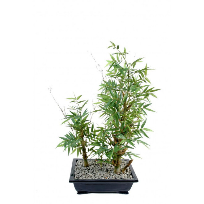 BONSAI artificiel BAMBOU en coupe 57 cm