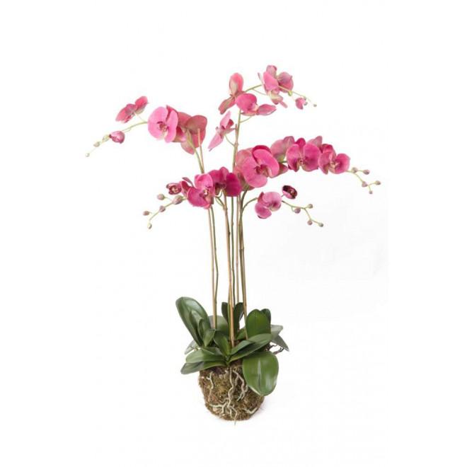 composition Phalaenopsis ORCHIDEE artificielle 110 cm