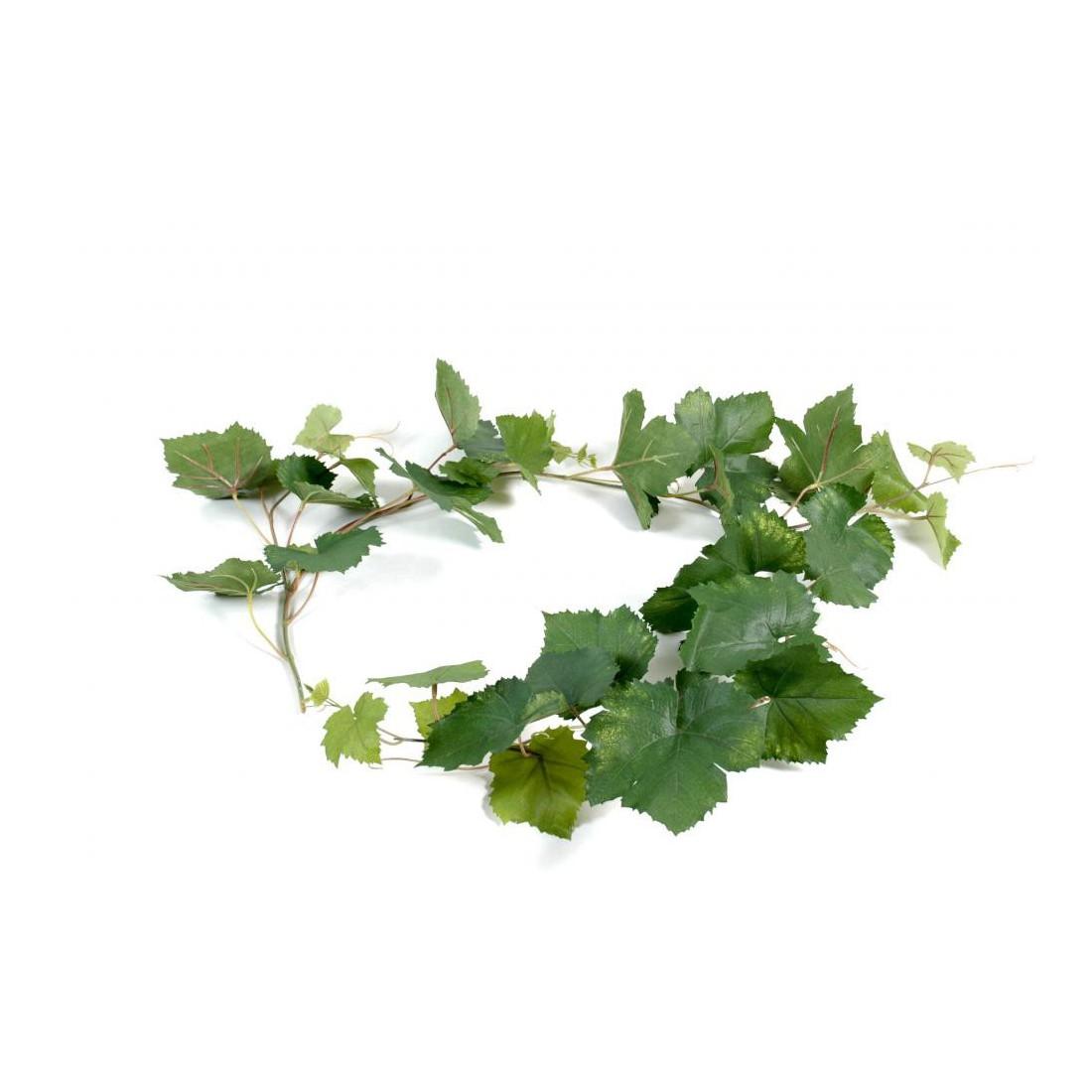 Guirlande feuille de vigne artificielle 118cm plantes for Plantes artificielles lyon