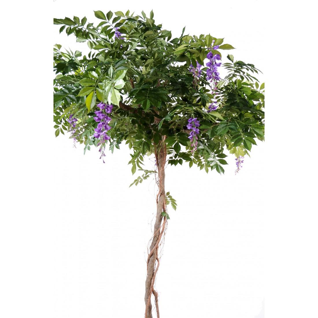 glycine artificielle round de 235 cm arbres fleuris artificiels. Black Bedroom Furniture Sets. Home Design Ideas