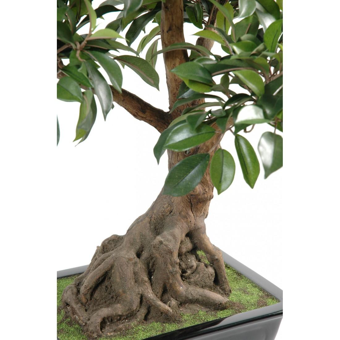 Bonsai Artificiel Ficus 58 Cm Vert Bonsa S Mini Plantes Reflets Nature Lyon