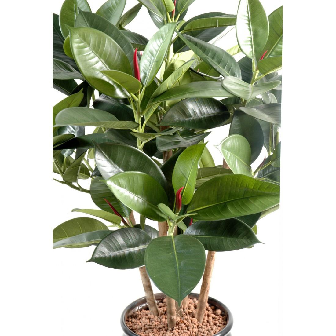 Ficus artificiel elastica buisson rubber plant multitree for Buisson synthetique