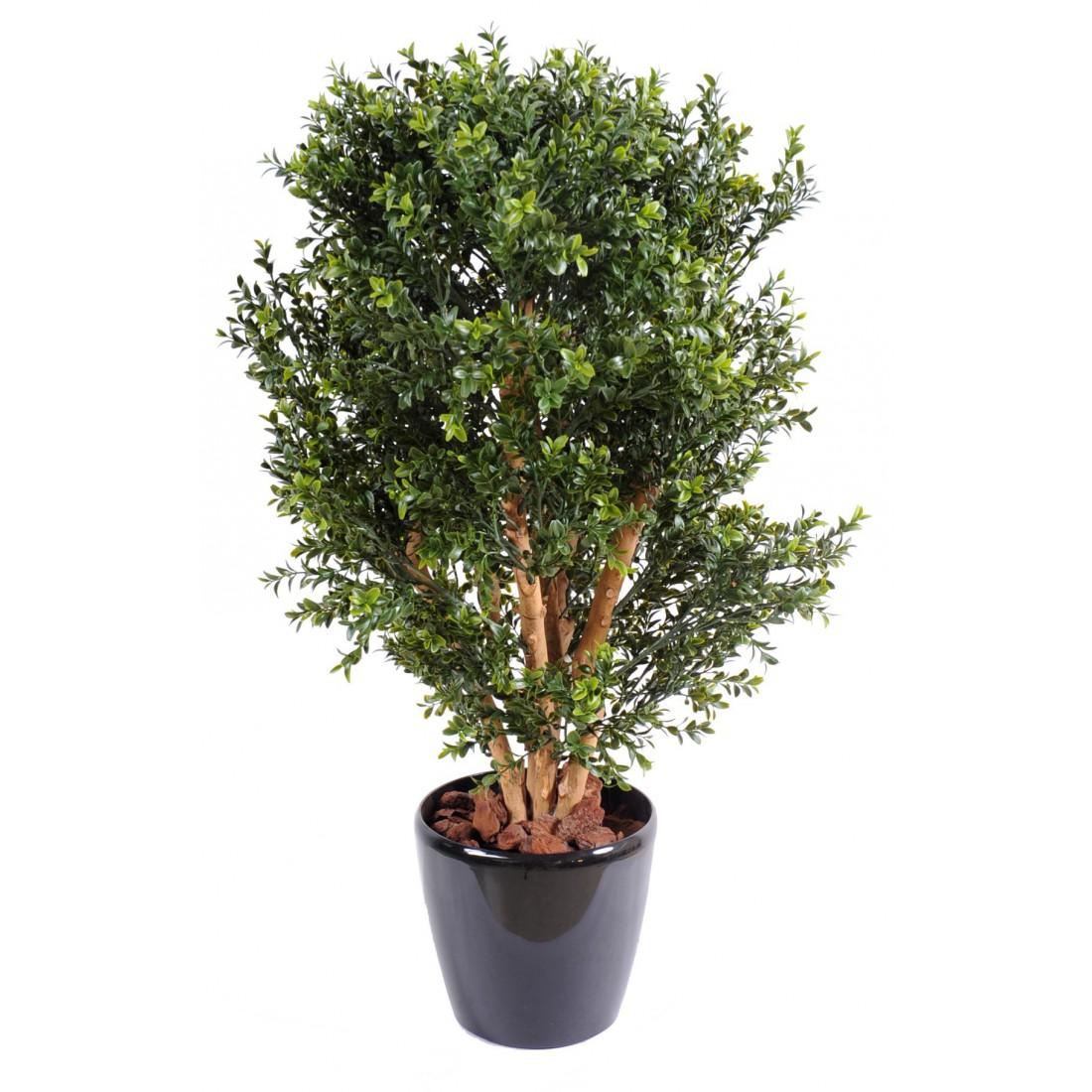 Buis artificiel buisson 50 et 80 cm pour exterieur for Buisson synthetique