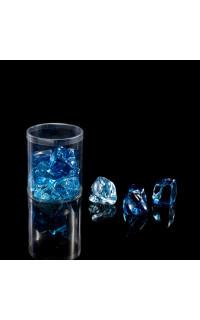 set de 12 glaçons déco bleu