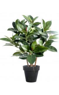FICUS artificiel ELASTICA buisson ou caoutchouc 90 cm