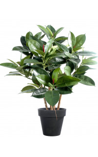 FICUS artificiel ELASTICA buisson (rubber plant multitree) 90 cm