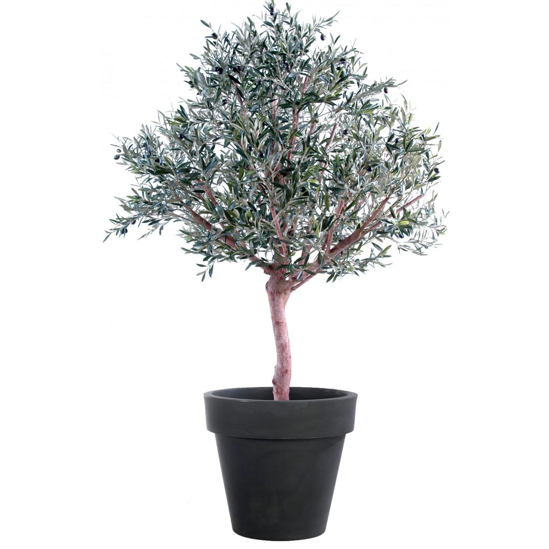 Olivier artificiel new tete large olive noire 150 for Faux olivier arbre