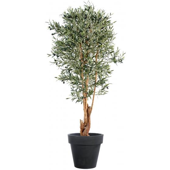 OLIVIER artificiel NEW tronc noueux 150 à 210 cm (olives noires)