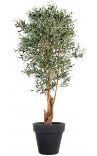 OLIVIER artificiel NEW tronc noueux 120 à 210 cm  (olives noires)