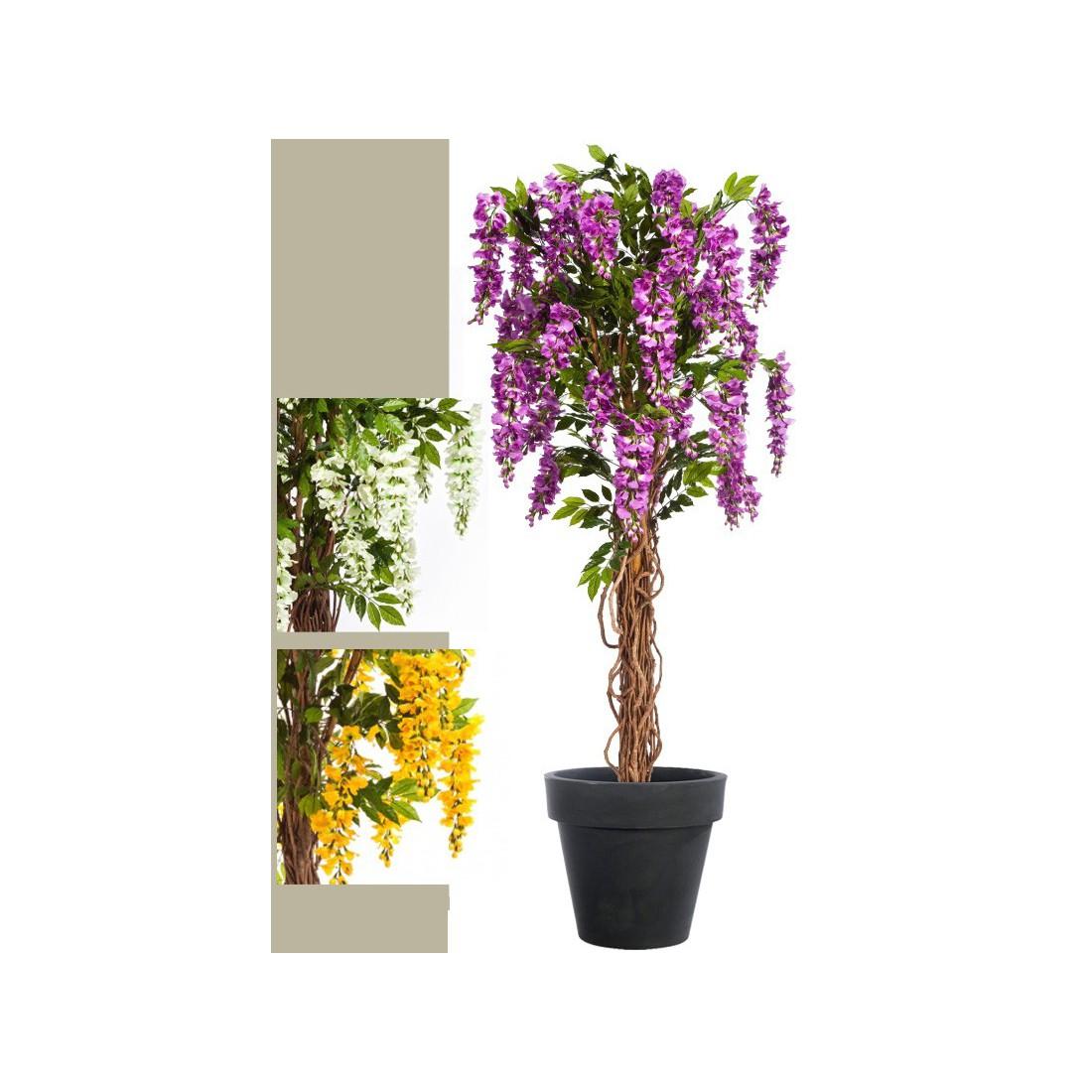 glycine artificielle 180 cm arbres fleuris reflets nature lyon. Black Bedroom Furniture Sets. Home Design Ideas