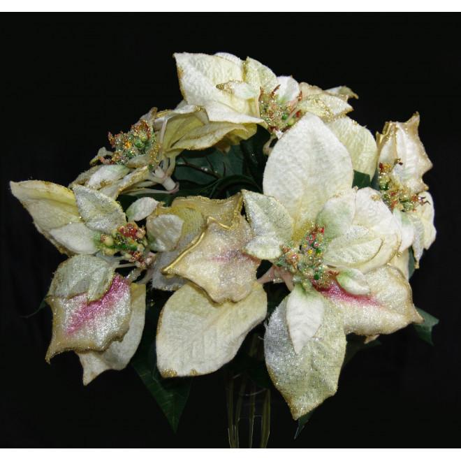 bouquet POINSETTIA Byzance 42 cm