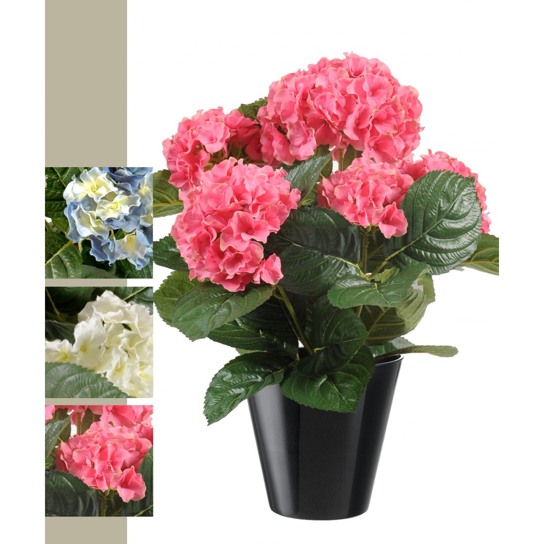 hortensia artificiel 50 cm rose ou bleu fleurs de nos jardins hortensia artificielles reflets. Black Bedroom Furniture Sets. Home Design Ideas